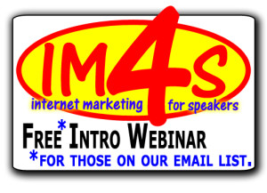 Internet Marketing for Speakers Webinar