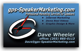 Speaker Business Cards by gps-SpeakerMarketing.com