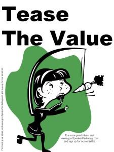 tease the value email marketing secret 2